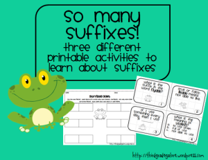 suffixes learning activities